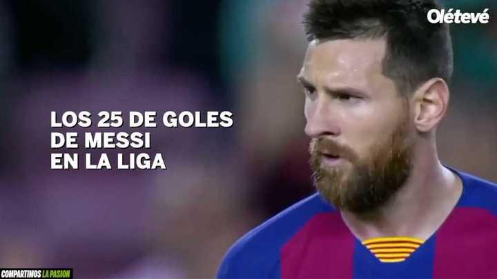Los 25 goles de Messi en La Liga