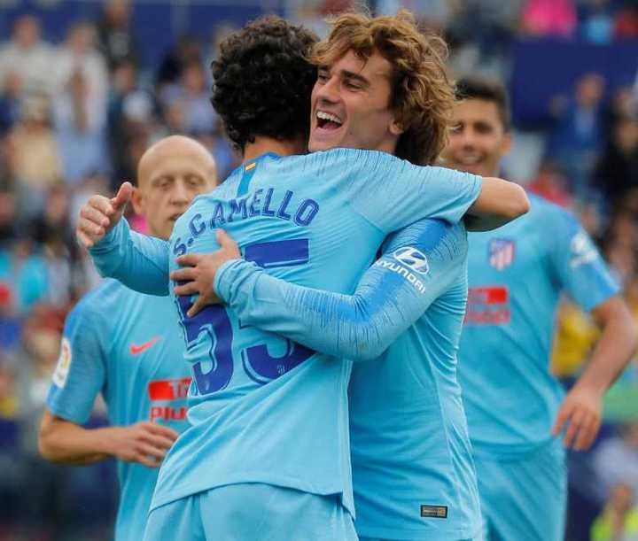 Camello se llevó los abrazos en el 2-2 del Atlético de Madrid ante Levante