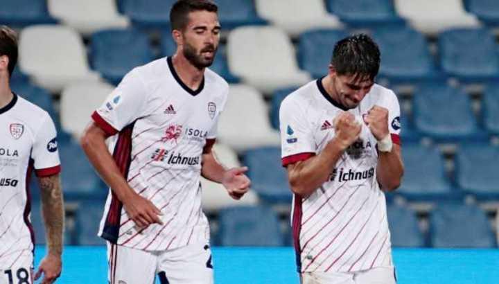 El gol de Gio Simeone para el Cagliari