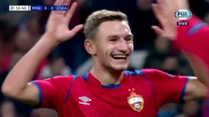 El CSKA marcó el 1 a 0