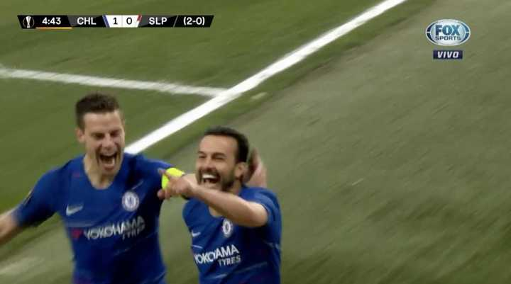 Pedro marcó el primero del Chelsea