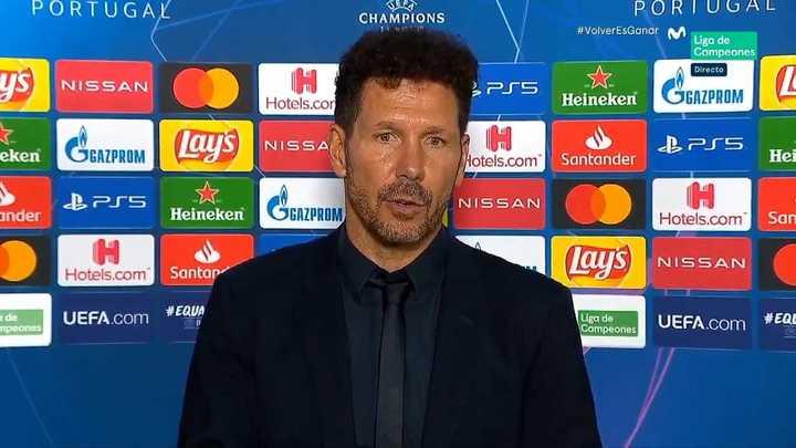 La palabra de Simeone tras la derrota en Champions