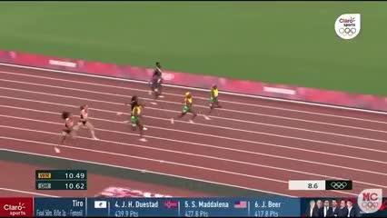 Elaine Thompson se quedó con el oro en los 100 metros