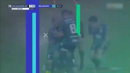 Los goles de Estudiantes (RC) 1 - Belgrano 1