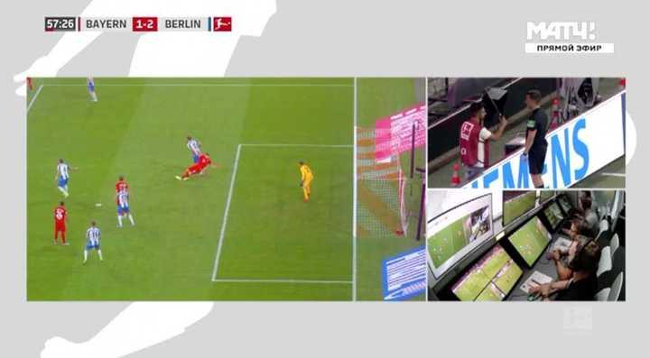 El VAR le dio el penal al Bayern para el 2-2 ante Herta Berlín