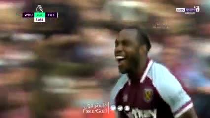Michail Antonio, gol a Tottenham y bailecito en el festejo