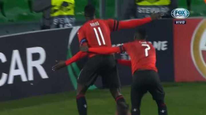 Niang marcó el 3 a 1 del Rennes