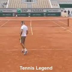 Roger Federer y un control increíble