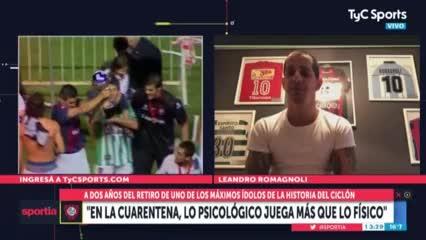 """Pipi Romagnoli: """"Es difícil volver después de 80 días"""""""