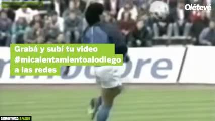 Otro recuerdo viral por Maradona