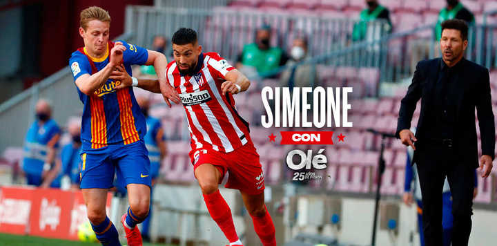 """Simeone: """"¿Sabés el equipo que tiene Barcelona?""""  y la realidad de Barcelon"""