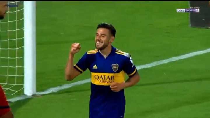 Salvio marcó el primero del partido para Boca
