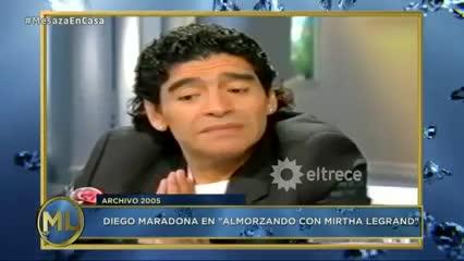 Maradona en el programa de Mirtha