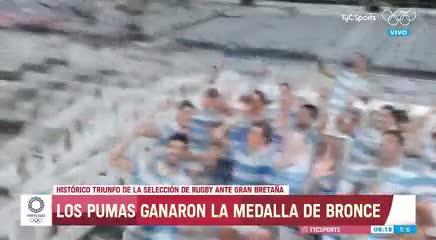 Los festejos de Los Pumas