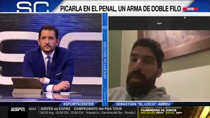 Abreu habló del penal de Cardona con River
