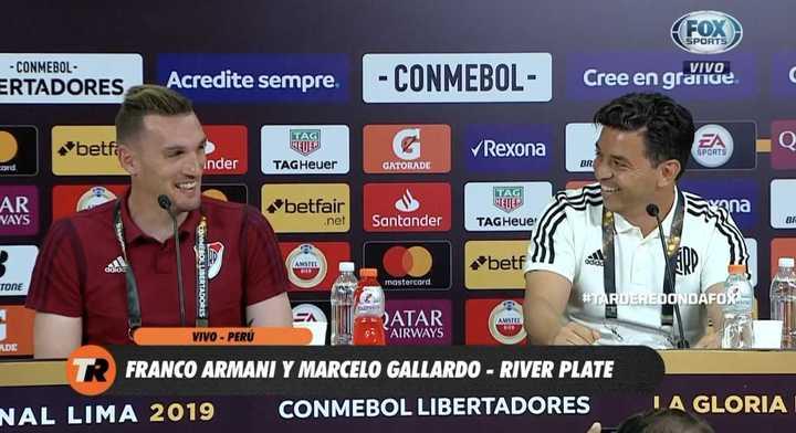 "Gallardo: ""Casi juega Manu Lanzini..."""