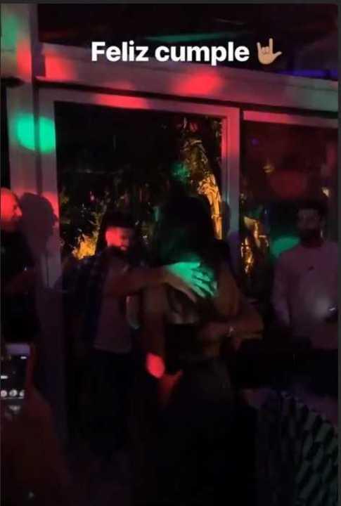 El Kun en la fiesta de una cantante argentina