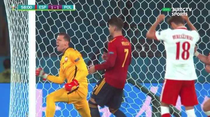 Morata erró el penal