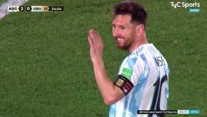 Messi casi marca el cuarto