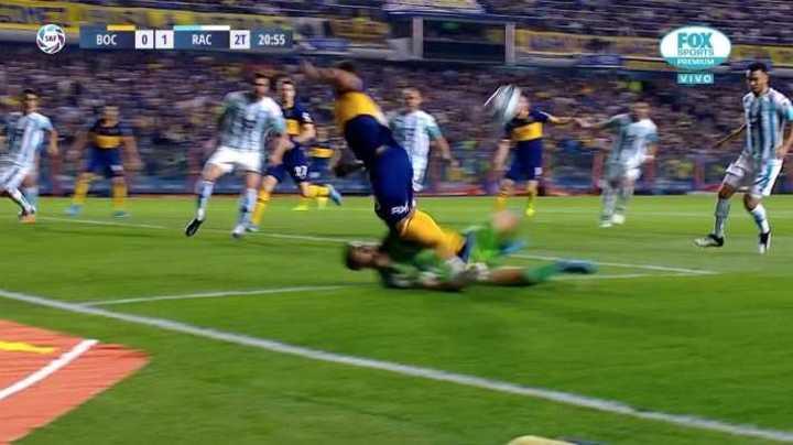 Boca tuvo otro posible penal