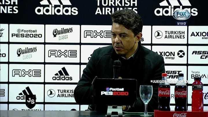 """Gallardo: """"Me parece que fue injusto perder este partido"""""""