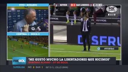 """Alfaro: """"Me gustó la Copa Libertadores que hizo Boca"""""""