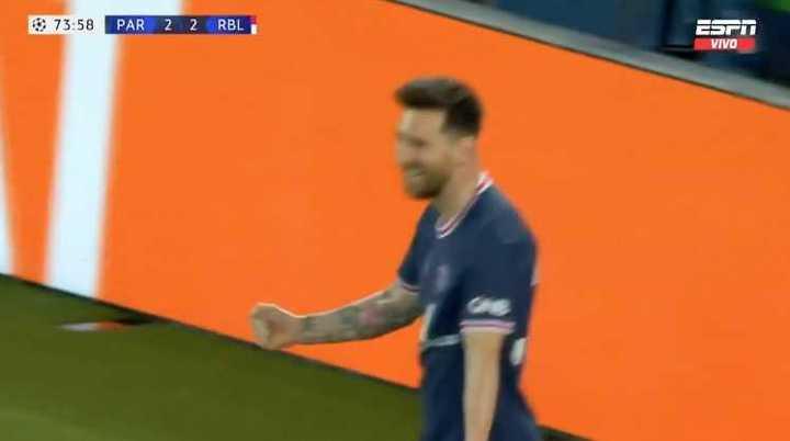 El partido de Messi contra el Leipzig