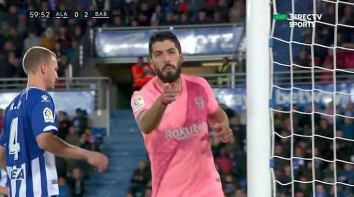 Suárez, de penal, puso el 2 a 0