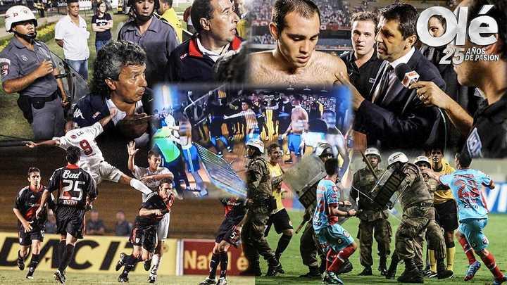 5 escándalos de equipos argentinos en Brasil