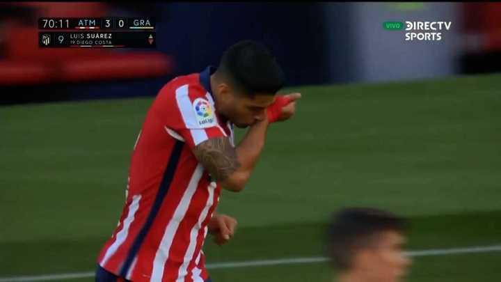 Luis Suárez debutó en el Atlético de Madrid