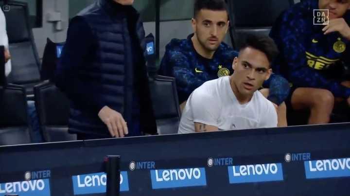 Laurato Martínez se calentó con Conte