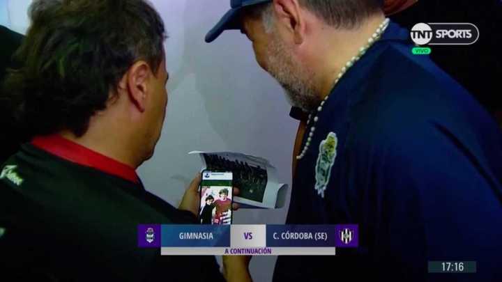 El encuentro de Maradona y Coleoni en la previa del partido