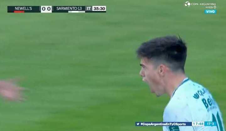 Borasi marcó el 1 a 0 de Sarmiento