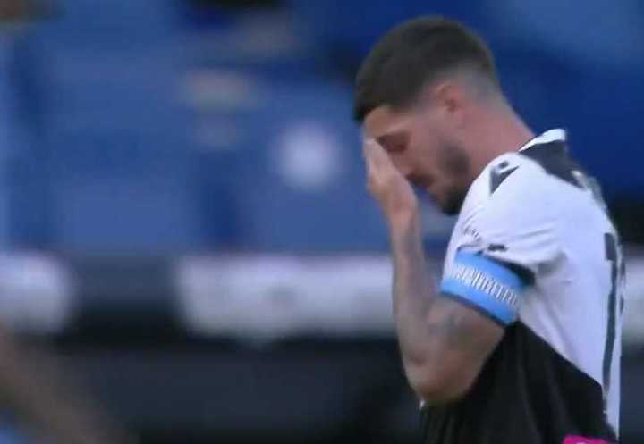 El llanto de De Paul en el minuto 10 de Lazio-Udinese