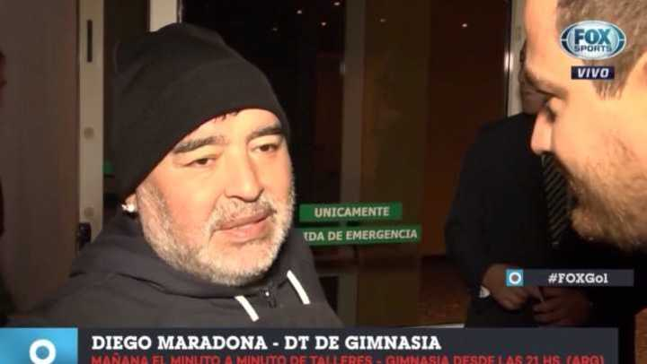 La palabra de Diego cuando llegó a Córdoba