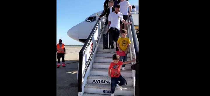 La llegada de Messi a Milán