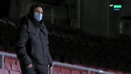 El gesto de fastidio de Messi viendo al Barcelona