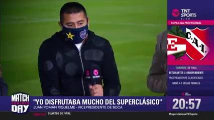 "Riquelme: ""Quiero ver campeón de América a Messi"""