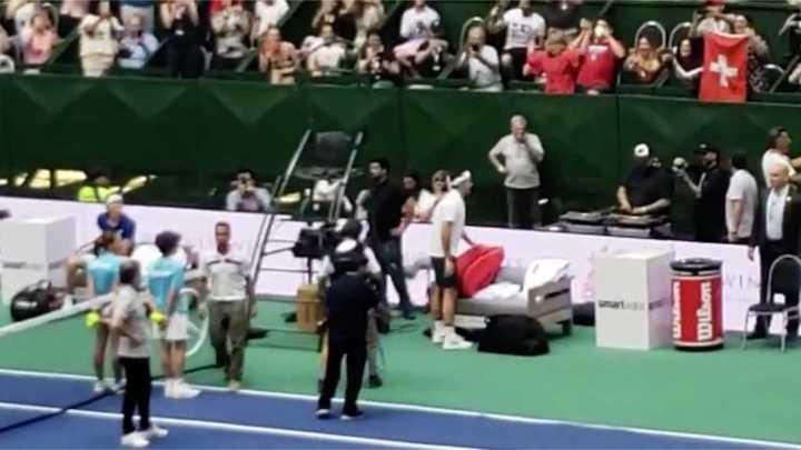 La gente enloqueció con Federer