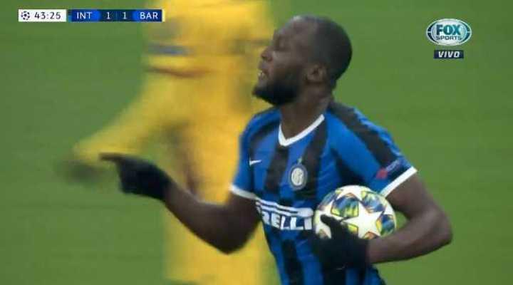 Lukaku lo empató para el Inter