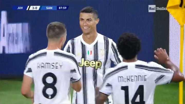 Cristiano Ronaldo marcó el tercero de la Juve
