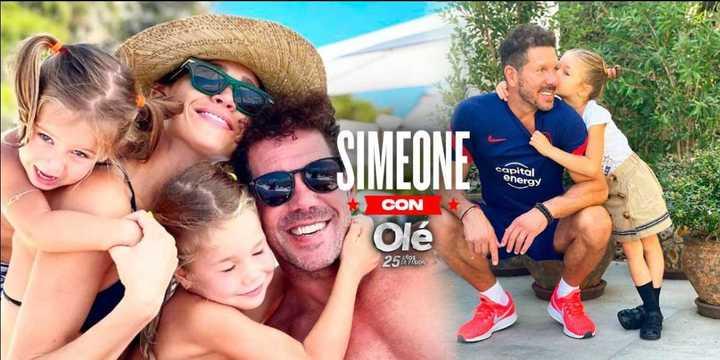 Simeone, sus hijas y su rutina familiar