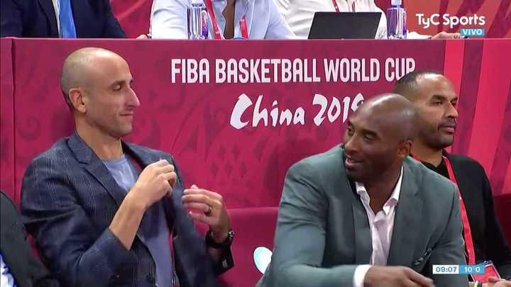 Manu Ginóbili y Kobe Bryant estuvieron presentes en la semifinal entre Argentina y Francia