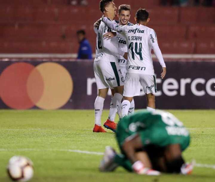 Palmeiras goleó 4-0 a Melgar y le dio la clasificación a San Lorenzo