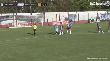 El 1-0 de UAI Urquiza a Sacachispas