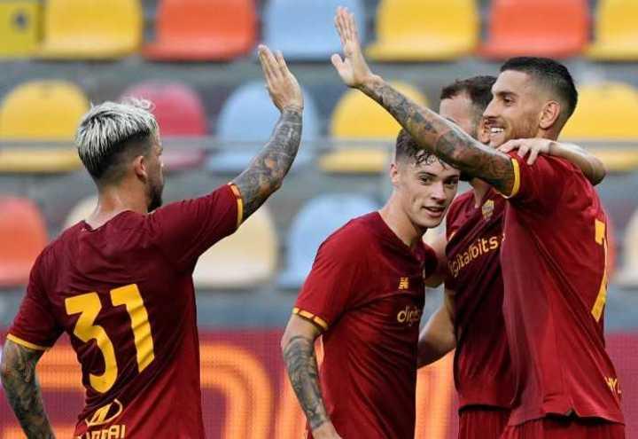 La goleada de Roma a Debreceni por 5-2