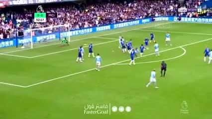 Gabriel Jesús y el 1-0 del Manchester City ante Chelsea