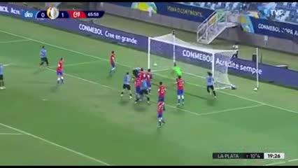 Luis Suárez metió el empate ante Chile
