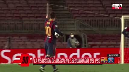 Los gestos de Messi luego del segundo gol