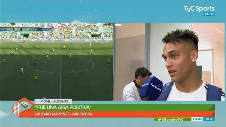Lautaro explicó la discusión con Paredes